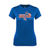 Ladies Syntrel Performance Royal Tee-Soccer Swoosh