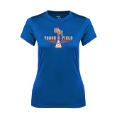 Ladies Syntrel Performance Royal Tee-Track and Field Design