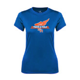 Ladies Syntrel Performance Royal Tee-Track and Field Side Design