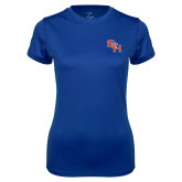 Ladies Syntrel Performance Royal Tee-SH Paw Official Logo