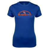 Ladies Syntrel Performance Royal Tee-Arched Football Design