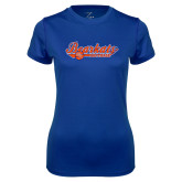 Ladies Syntrel Performance Royal Tee-Softball Lady Design