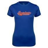 Ladies Syntrel Performance Royal Tee-Softball Lady Design