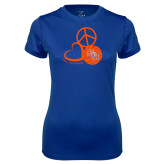 Ladies Syntrel Performance Royal Tee-Volleyball Design