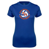 Ladies Syntrel Performance Royal Tee-Volleyball Stars Design