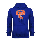 Royal Fleece Hood-Proud To Be A Bearkat Arched
