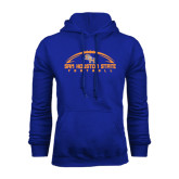 Royal Fleece Hood-Arched Football Design