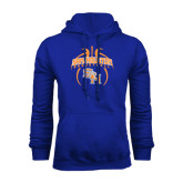 Royal Fleece Hood-Basketball in Ball