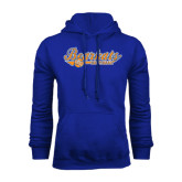 Royal Fleece Hood-Softball Lady Design
