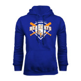 Royal Fleece Hood-Softball Design w/ Bats and Plate