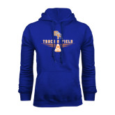 Royal Fleece Hood-Track and Field Design