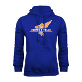Royal Fleece Hood-Track and Field Side Design