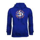 Royal Fleece Hood-Volleyball Stars Design