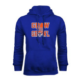 Royal Fleece Hood-Grow the Growl - Baseball