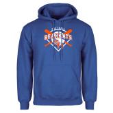 Royal Fleece Hoodie-Softball Design w/ Bats and Plate