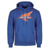 Royal Fleece Hoodie-Track and Field Side Design