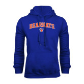 Royal Fleece Hood-Arched Bearkats w/Paw