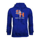 Royal Fleece Hood-Basketball