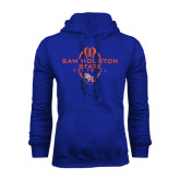Royal Fleece Hood-Tall Football Design