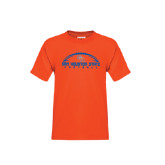 Youth Orange T Shirt-Arched Football Design