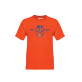 Youth Orange T Shirt-Tall Football Design
