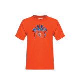 Youth Orange T Shirt-Basketball in Ball
