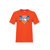 Youth Orange T Shirt-Softball Design w/ Bats and Plate