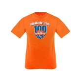 Youth Orange T Shirt-100th Football Season w/ Arched Headline