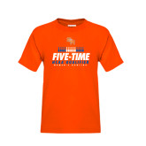 Youth Orange T Shirt-Five-Time NCAA Qualifier Womens Bowling