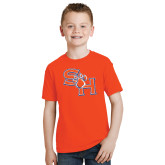 Youth Orange T Shirt-SH Paw Official Logo
