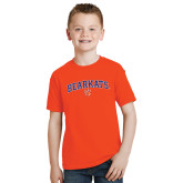 Youth Orange T Shirt-Arched Bearkats w/Paw