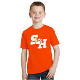 Youth Orange T Shirt-Primary Athletics Mark