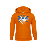 Youth Orange Fleece Hood-Softball Design w/ Bats and Plate