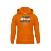 Youth Orange Fleece Hood-Tennis Game Set Match