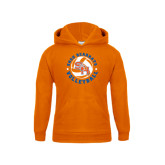 Youth Orange Fleece Hood-Volleyball Stars Design