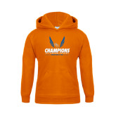 Youth Orange Fleece Hood-2016 Southland Conference Champions Indoor Track & Field