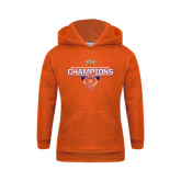 Youth Orange Fleece Hoodie-2016 Southland Conference Football Champions