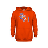 Youth Orange Fleece Hoodie-SH Paw Official Logo