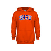 Youth Orange Fleece Hoodie-Arched SHSU
