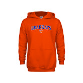 Youth Orange Fleece Hoodie-Arched Bearkats w/Paw