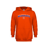 Youth Orange Fleece Hoodie-Arched Sam Houston State Bearkats w/Paw