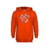 Youth Orange Fleece Hood-Paw