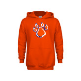 Youth Orange Fleece Hoodie-Paw