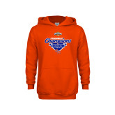 Youth Orange Fleece Hoodie-2017 Southland Conference Baseball Champions