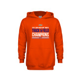 Youth Orange Fleece Hoodie-2017 Southland Conference Mens Track and Field