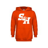 Youth Orange Fleece Hoodie-Primary Athletics Mark