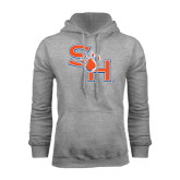 Grey Fleece Hood-SH Paw Official Logo
