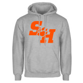 Grey Fleece Hoodie-Primary Athletics Mark