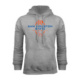 Grey Fleece Hood-Tall Football Design