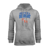 Grey Fleece Hood-Proud To Be A Bearkat Arched